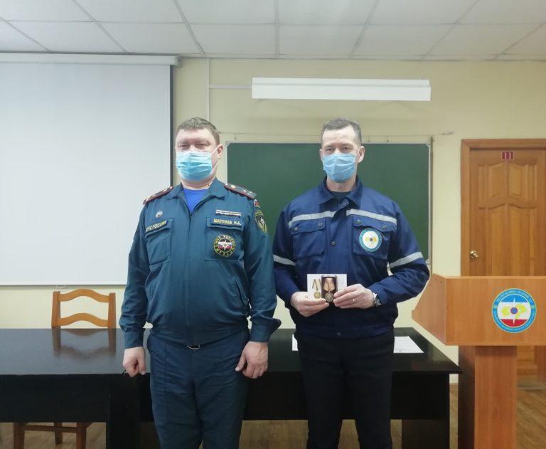 В Марий Эл наградили 10 сотрудников Марийской аварийно-спасательной службы