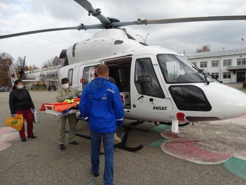 В Марий Эл вертолет санавиации впервые в 2021 году отправился на вызов