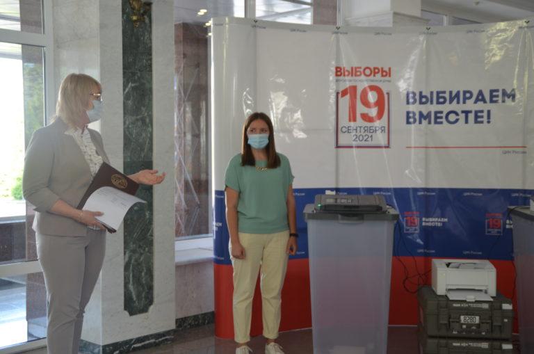 В ЦИК Марий Эл продемонстрировали принцип работы комплекса обработки избирательных бюллетеней