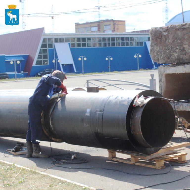 В Йошкар-Оле реконструируют тепломагистраль М-2