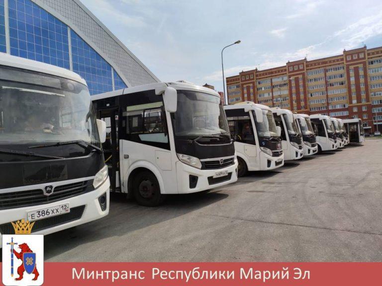 Минтранс Йошкар-Олы представил автобусы, которые будут курсировать по 4 маршрутам