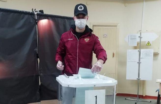 Спортсмен сборной России проголосовал в Марий Эл